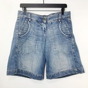 FCUK Jeans Womens Denim Shorts Blue Long Size 4